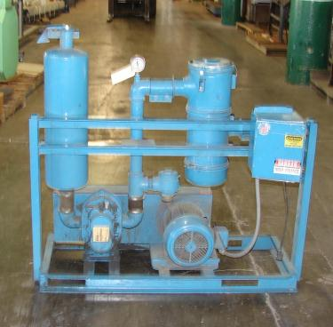 Blower 100 cfm, positive displacement blower Novatec, 5 hp