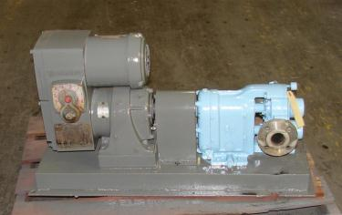Pump 2 inlet Waukesha positive displacement pump model 25, 1/2 hp, Stainless Steel