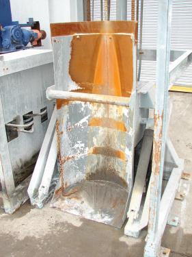 Material Handling Equipment drum dumper, 2000 lbs. Tubar Dumper 197 discharge ht.