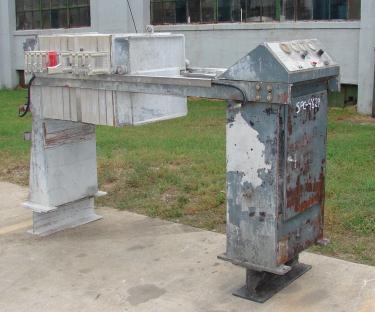 Filtration Equipment 3.2 cuft Cal-Press recessed plate filter press model AC 25-X, Polypropylene