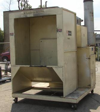 Miscellaneous Equipment powder paint booth, Volstatic model Solidspray, 48x48