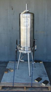 Filtration Equipment 230 sqft Millipore cartridge filter model 12R x 3 high T-line, 316 SS