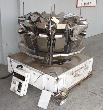 Scale 14 bucket Ishida multihead weigher model CCW-S-211, Stainless Steel, 283g - 907g weigher capacity