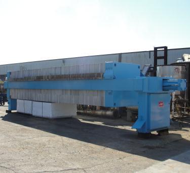 Filtration Equipment 194 cu ft JWI recessed plate filter press model 1450mm, Polyethylene