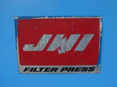 Filtration Equipment 194 cu ft JWI recessed plate filter press model 1450mm, Polyethylene