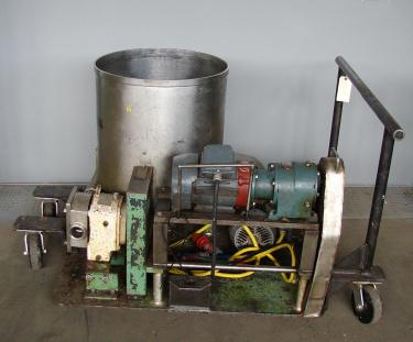 Pump 2 inlet Peters Machinery Co. positive displacement pump model 3R, 2 hp, Stainless Steel