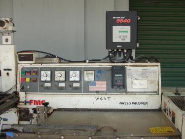Wrapper FMC horizontal flow wrapping machine model WA520, speed 200 ppm