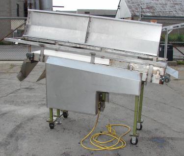 Conveyor inclined belt conveyor 16 w x 76 l, 43 discharge height