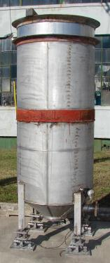 Tank 350 gallon vertical tank, Stainless Steel, conical bottom