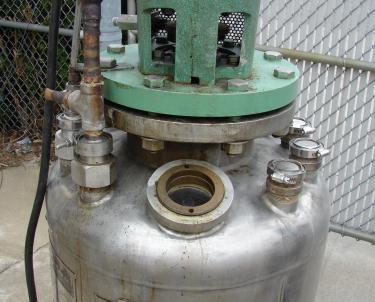 Reactor 50 gallon HC Hicks & Sons chemical reactor, 50 psi internal, 125 psi jacket, 3/4 hp agitator