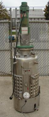 Reactor 50 gallon Alloy Crafts chemical reactor, 50 psi internal, 125 psi jacket, 3/4 hp agitator