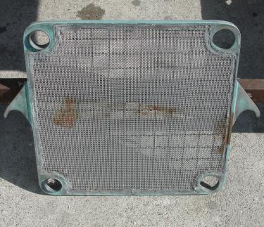 Filtration Equipment 30 sq.ft. Republic Filter plate and frame filter model 400, Brass, 25 plates, 1.4 cuft capacity