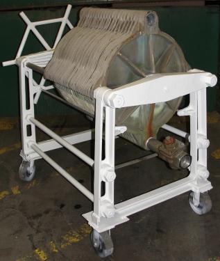 Filtration Equipment 78 sq.ft. Ertel plate and frame filter model EX, Brass, 35 plates, 2.5 cu.ft. capacity