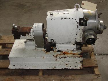 Pump 3 inlet Waukesha positive displacement pump model 130, Stainless Steel