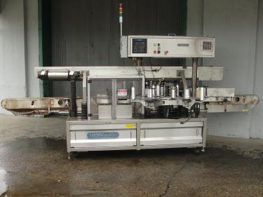 Labeler Shorewood pressure sensitive labeler model 4100, front and back, 300 cpm