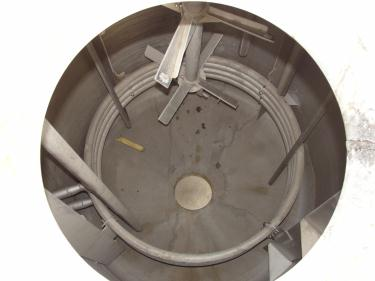 Tank 1970 gallon vertical tank, 304 SS, 25 psi @ 200f internal, dish Bottom