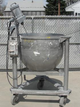 Tank 100 gallon vertical tank, Stainless Steel, .3 hp agitator, hemispherical