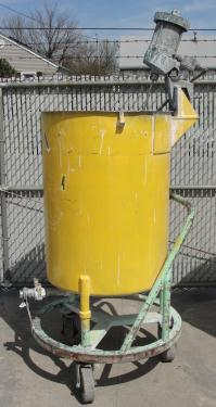 Tank 100 gallon vertical tank, Stainless Steel, 1/3 hp agitator, flat
