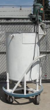 Tank 100 gallon vertical tank, Stainless Steel, 1/3 hp agitator, flat bottom
