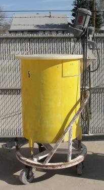 Tank 100 gallon vertical tank, Stainless Steel, 1/3 hp agitator, flat Bottom