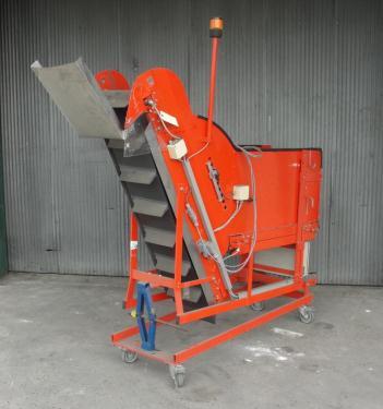 Conveyor inclined belt conveyor CS, 12wide x 60 long, 50 to 55 discharge height