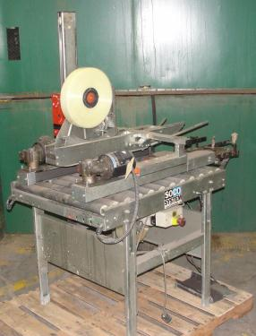 Case Sealer Soco top and bottom case taper model T-100, speed 30 cpm