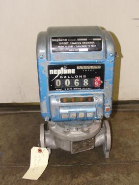 Valve 1 Neptune model 432 liquid flow meter, Stainless Steel