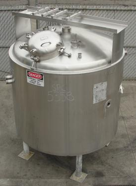 Kettle 400 gallon Groen hemispherical bottom kettle, scrape agitator, 100 psi jacket rating, 316 SS