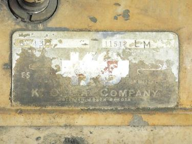 Machine Tool K.O. Lee Co. tool sharpener model BA960