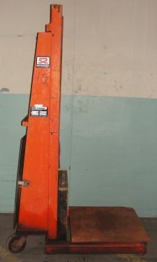 Material Handling Equipment 1500 lbs capacity Economy drum lift model CWK-72, 72 lift height