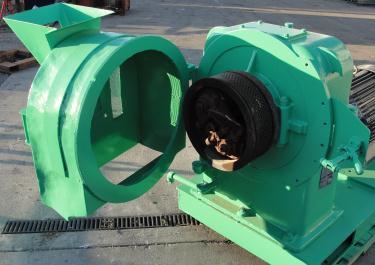 Mill 60 hp Richard Sizer Ltd pellet mill model Orbit 70, 14 diameter die