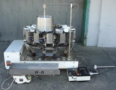 Scale 14 bucket Yamato multihead weigher model ADW-323-RB, Stainless Steel Contact Parts, 8 to 1600 grams weigher capacity