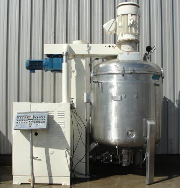 Mixer and Blender 2400 liters capacity Fryma vacuum mixer model VME-2400, side scraping/dispersion agitator agitator, +/- 1 bar @ 150 c internal, 2 bar @ 150 c jacket