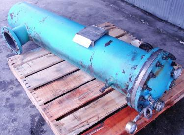 Heat Exchanger 76 sq.ft. Vendome shell and tube heat exchanger, 150 psi shell, 150 psi internal, CS