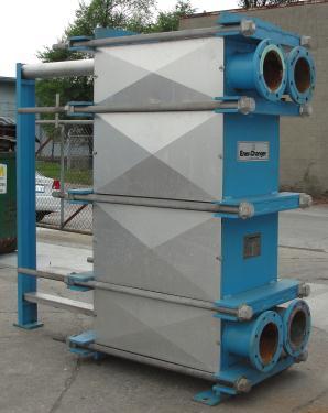 Heat Exchanger 1922 sq.ft. Tranter plate heat exchanger, Stainless Steel