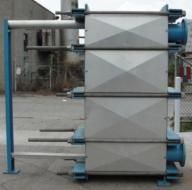 Heat Exchanger 1922 sq.ft. Tranter plate heat exchanger, Stainless Steel