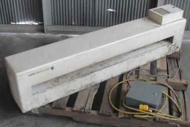 Metal Detector Lock conveyor metal detector model METALCHEK 9, 3 high x 52 wide aperture, NA