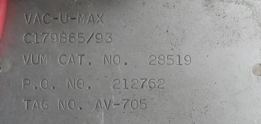 Blower 67 cfm, positive displacement blower Vac-U-Max, 3 hp