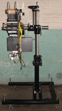 Labeler Loveshaw pressure sensitive labeler model Little David LS-800-T-G, blow-on, 16 per second