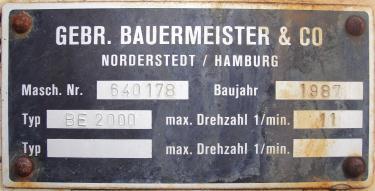 Feeder 8 Bauermeister and Co screw feeder CS