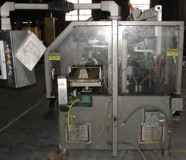 Form Fill and Seal KHS Klockner Bartelt horizontal form fill seal model RPM, up to 8 wide x 14 tall pouches, zipper applicator 75 ppm