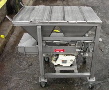 Feeder Eriez vibratory feeder model 484, Stainless Steel Contact Parts