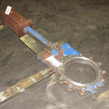 Valve 14 Hilton Valve Inc. gate valve, pneumatic, Stainless Steel Contact Parts