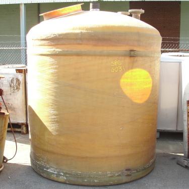Tank 1300 gallon vertical tank, Fiberglass, flat