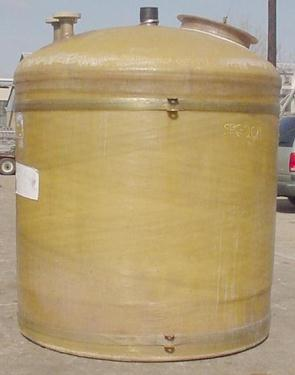 Tank 1300 gallon vertical tank, Fiberglass, flat bottom