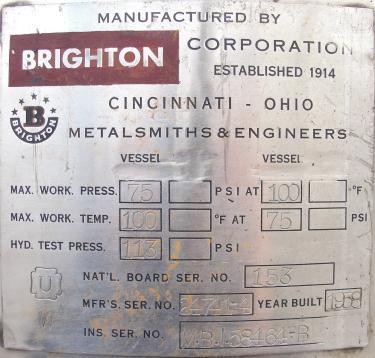 Filtration Equipment 110 gallon Brighton basket strainer (single), Stainless Steel