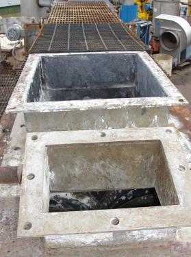 Dryer Twin 12dia x 128 long, screw dryer, Stainless Steel