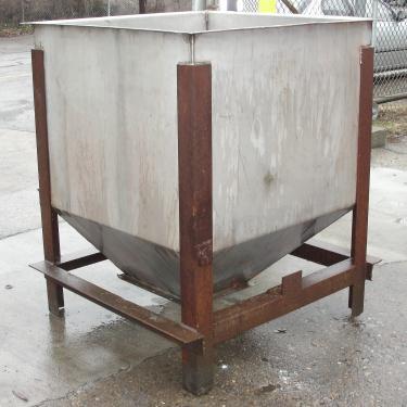 Bin 25 cu.ft., bulk storage bin, Stainless Steel