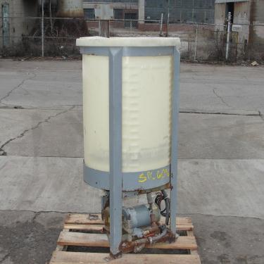 Tank 45 gallon vertical tank, Polyethylene, flat