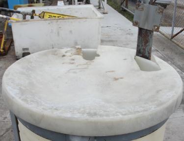Tank 45 gallon vertical tank, Polyethylene, flat Bottom
